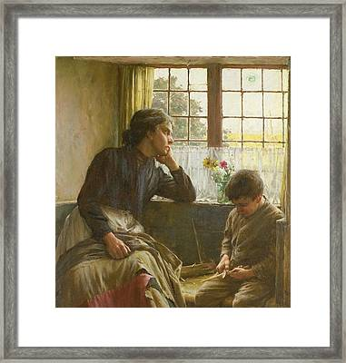 Tender Grace Of A Day That Is Dead Framed Print by Walter Langley