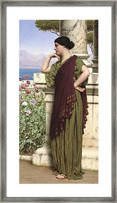 Tender Thoughts Framed Print by John William Godward