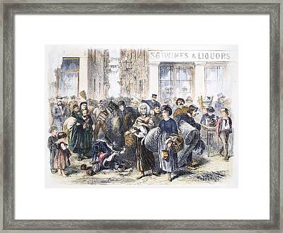 Tenement Life, 1871 Framed Print by Granger