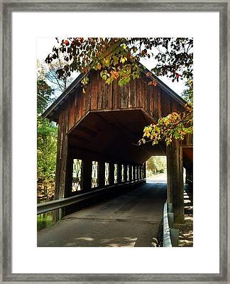 Tennesse Covered Bridge Framed Print by Janice Spivey