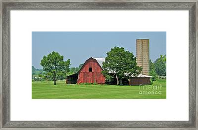 Tennessee Barn Framed Print by Val Miller