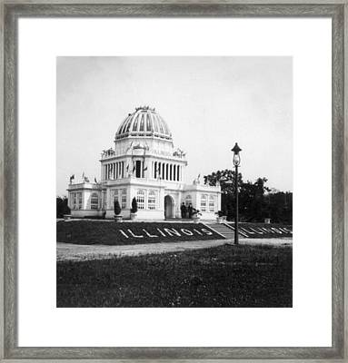 Tennessee Centennial In Nashville - Illinois Building - C 1897 Framed Print by International  Images