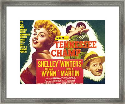 Tennessee Champ, Shelley Winters Framed Print by Everett