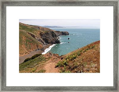 Tennessee Cove In Marin California . 7d16873 Framed Print