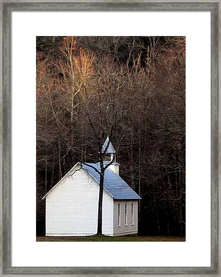 Tennessee Mountain Church Framed Print by Skip Willits
