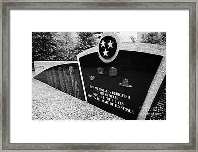 tennessee state police officer memorial war memorial plaza Nashville Tennessee USA Framed Print