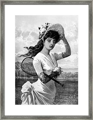 Tennis, 1887 Framed Print by Granger