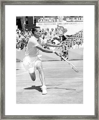 Tennis Champion Jack Kramer, Playing Framed Print by Everett