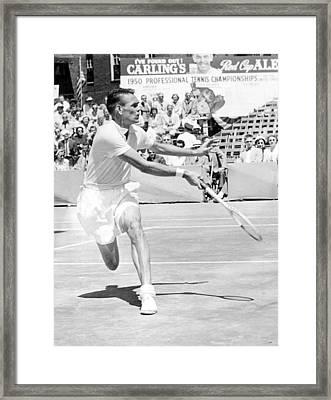 Tennis Champion Jack Kramer, Playing Framed Print by Everett
