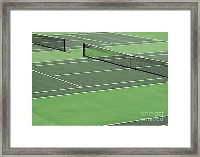 Tennis Court Framed Print by Blink Images