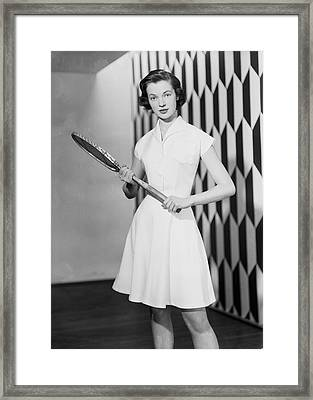 Tennis Outfit Framed Print by Chaloner Woods