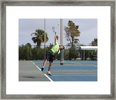 Tennis Serve Framed Print