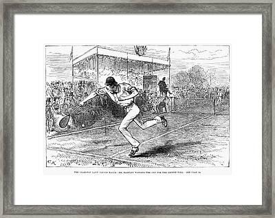Tennis: Wimbledon, 1880 Framed Print