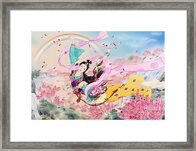 Tennyo Framed Print by Haruyo Morita
