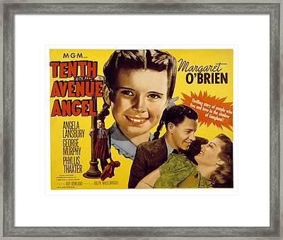 Tenth Avenue Angel, Margaret Obrien Framed Print by Everett