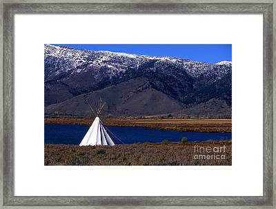 Tepee Framed Print by Barry Shaffer
