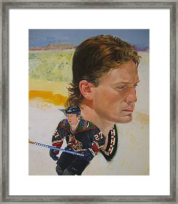 Framed Print featuring the painting Teppo Numminen by Cliff Spohn