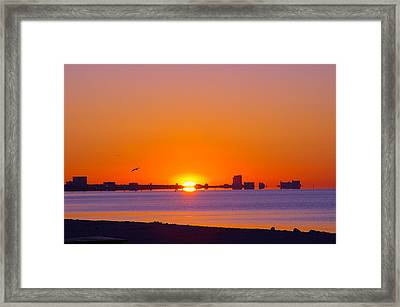 Framed Print featuring the photograph Tequila Sunrise by Brian Wright