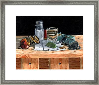 Tequila With Lime No. 2 Framed Print