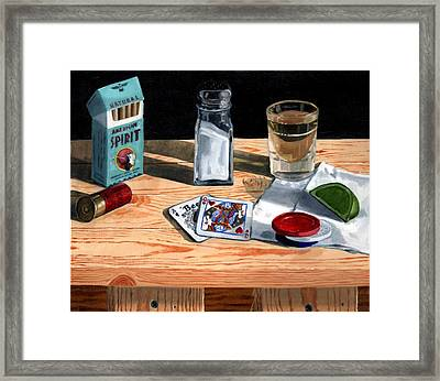 Tequila With Lime No. 4 Framed Print by Thomas Weeks