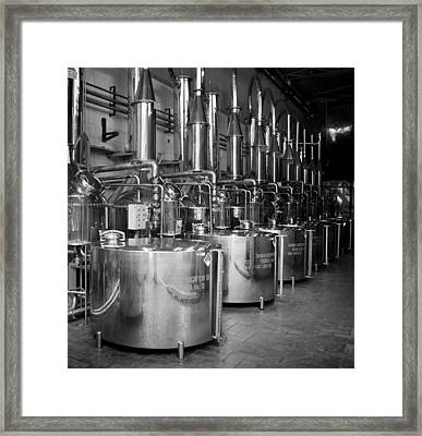 Framed Print featuring the photograph Tequilera S.s. Distillation Tanks by Lynn Palmer