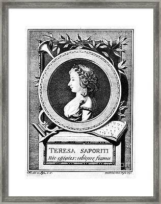 Teresa Saporiti (1763-1869) Framed Print