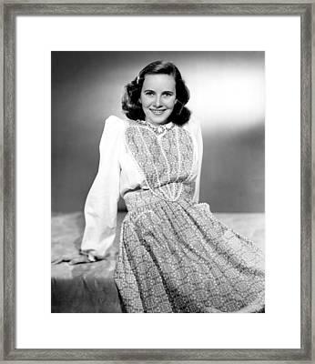 Teresa Wright, 1944 Framed Print