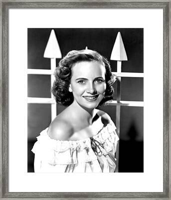 Teresa Wright, 1946 Framed Print by Everett