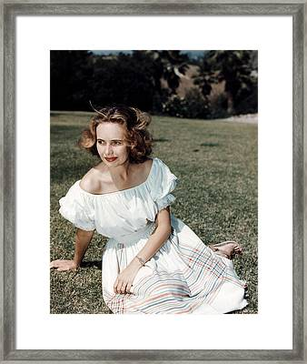 Teresa Wright, Ca. Late 1950s Framed Print by Everett