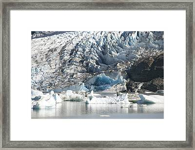 Terminal Moraine And Glacial Lake Framed Print by Matthias Breiter