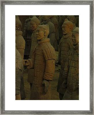 Terra Cotta Warriors Excavated At Qin Framed Print