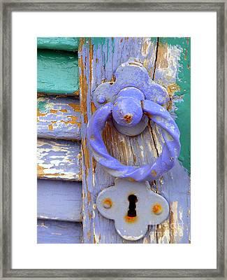 Terrace Door Framed Print by Lainie Wrightson