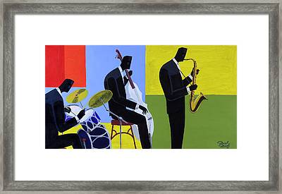 Terrace Jam Session Framed Print
