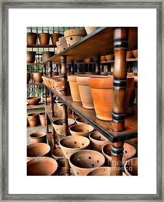 Terracotta Ranks Framed Print