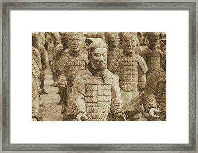Terracotta Warriors China Pavilion Epcot Walt Disney World Prints Vintage Framed Print by Shawn O'Brien