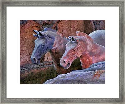 Terracotta Warriors' Horses 1 Framed Print