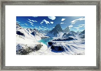 Terragen Render Of An Imaginary Framed Print by Rhys Taylor