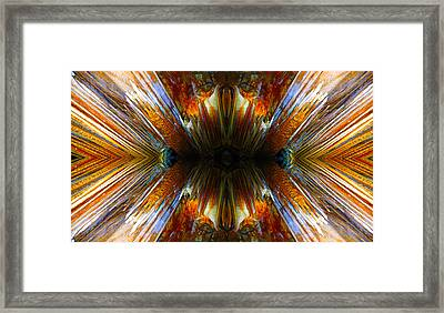 Framed Print featuring the photograph Terrestrial Rays by Sandro Rossi