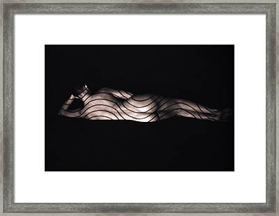Terri Lying Down Framed Print
