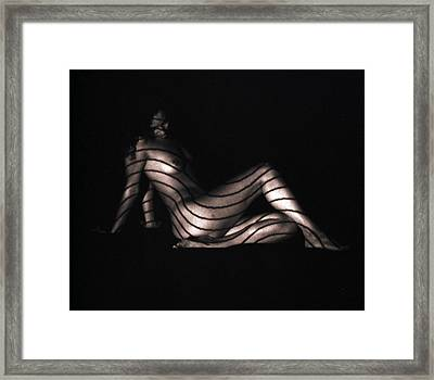 Terri Sitting Up Lines Framed Print