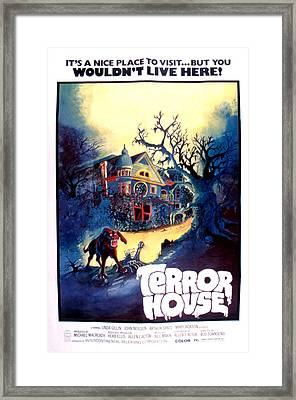 Terror House Aka Club Dead Terror At Framed Print by Everett