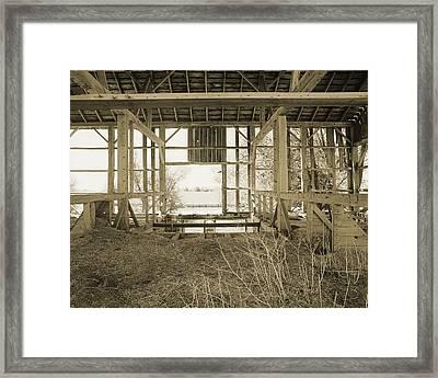 Tessman Barn Wood Framed Print