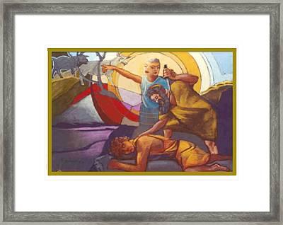 Test Of Abraham Framed Print