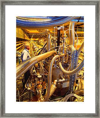 Testing Magnets For Large Hadron Collider Framed Print by David Parker