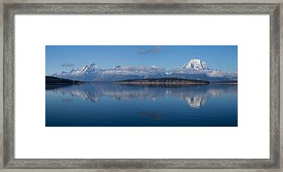 Teton Mountain Range Framed Print