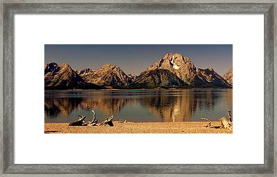 Framed Print featuring the photograph Teton Panoramic by Marty Koch