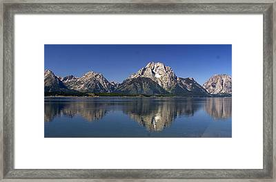 Teton Panoramic View Framed Print by Marty Koch