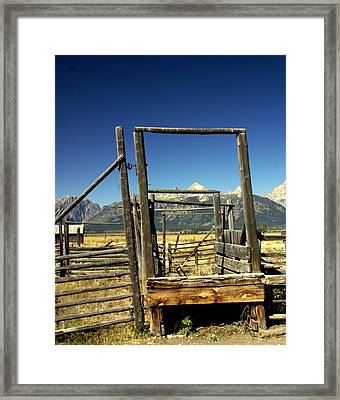 Framed Print featuring the photograph Teton Ranch by Marty Koch