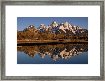 Teton Range, Grand Teton National Park Framed Print by Pete Oxford
