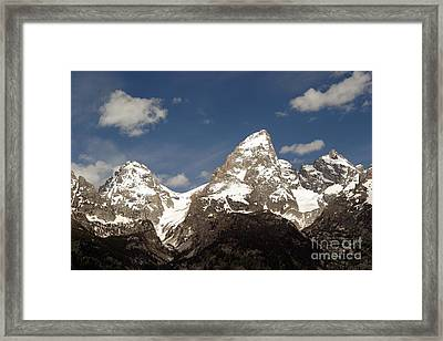 Framed Print featuring the photograph Teton Tips by Living Color Photography Lorraine Lynch